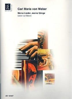 Meine Lieder, meine Sänge Carl Maria von Weber Partition laflutedepan