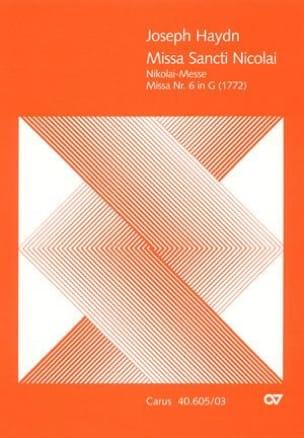 Missa Sancti Nicolai - Hob 22-6 HAYDN Partition Chœur - laflutedepan