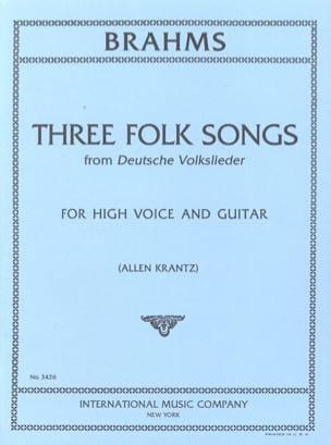 3 Folk Songs From Deutsche Volsklieder BRAHMS Partition laflutedepan