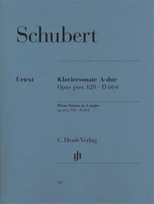 SCHUBERT - Piano sonata in A major D 664 Opus posthume 120 - Partition - di-arezzo.co.uk