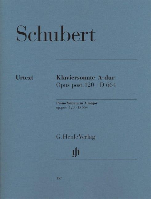 Sonate pour piano en La majeur D 664 Opus posthume 120 - laflutedepan.com