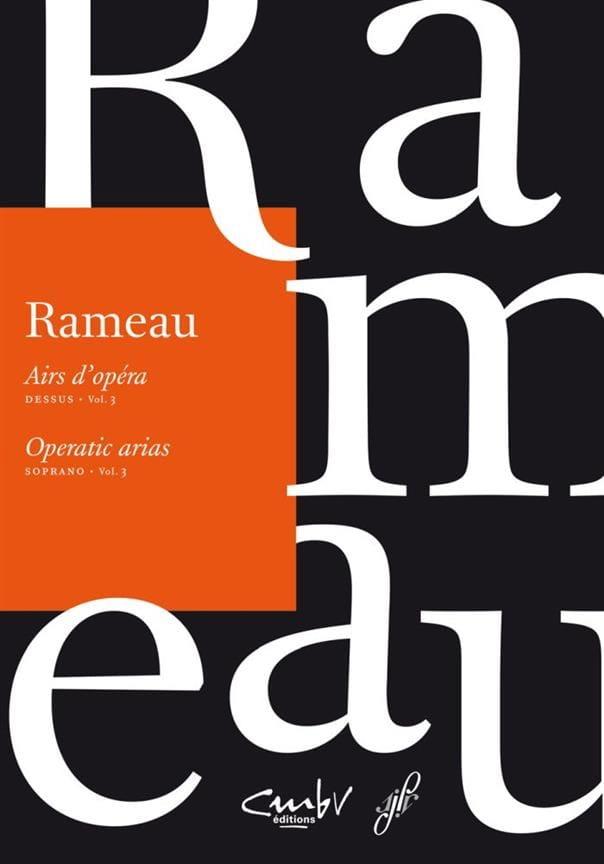 Airs d'opéra Dessus Volume 3 - RAMEAU - Partition - laflutedepan.com