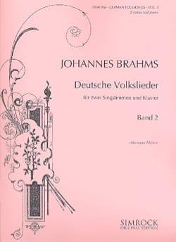 Deutsche Volkslieder (Duos) Volume 2 BRAHMS Partition laflutedepan