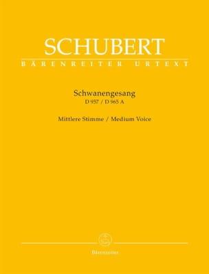 Schwanengesang. Voix moyenne SCHUBERT Partition laflutedepan