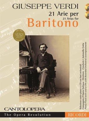 21 arie pour Baryton + 2 CD VERDI Partition Opéras - laflutedepan