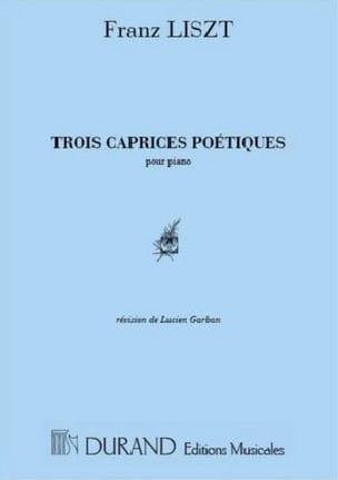 3 Caprices Poétiques - LISZT - Partition - Piano - laflutedepan.com