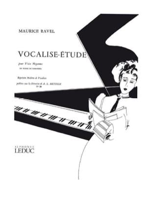 Vocalise Etude. Voix Moyenne Ravel Maurice / Hettich laflutedepan