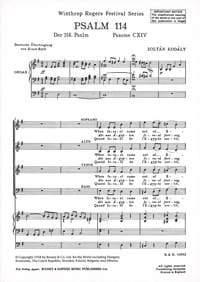 Psalm 114 KODALY Partition Chœur - laflutedepan