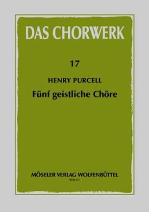 5 Geistliche Chöre PURCELL Partition Chœur - laflutedepan