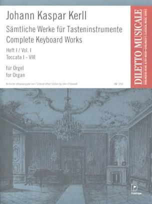 Oeuvres Complètes Volume 1 Johann Kaspar Kerll Partition laflutedepan