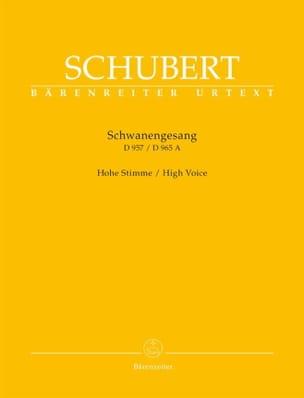 Schwanengesang. Voix haute SCHUBERT Partition Mélodies - laflutedepan