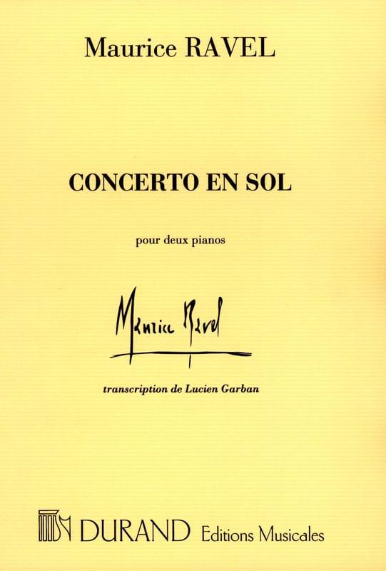 Concerto En Sol - RAVEL - Partition - Piano - laflutedepan.com