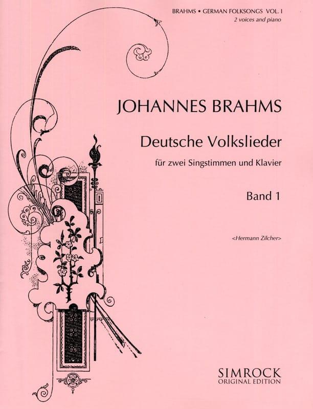 Deutsche Volkslieder (Duos) Volume 1 - BRAHMS - laflutedepan.com
