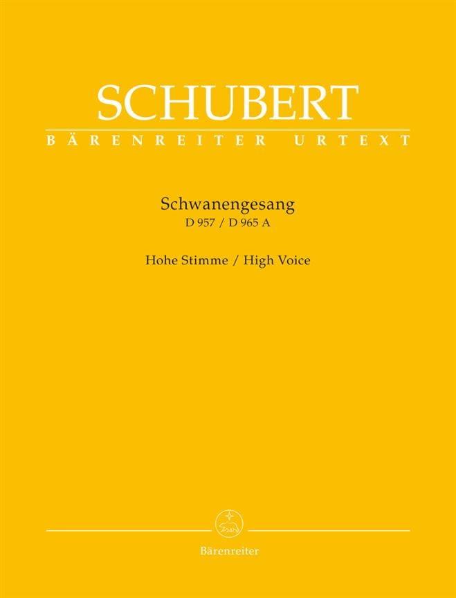 Schwanengesang. Voix haute - SCHUBERT - Partition - laflutedepan.com