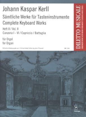 Oeuvres Complètes Volume 2 Johann Kaspar Kerll Partition laflutedepan