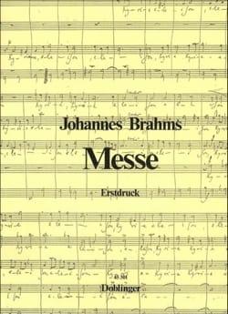 Messe Canonique BRAHMS Partition Chœur - laflutedepan