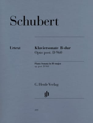 SCHUBERT - Piano Sonata B flat Major D 960 - Partition - di-arezzo.co.uk