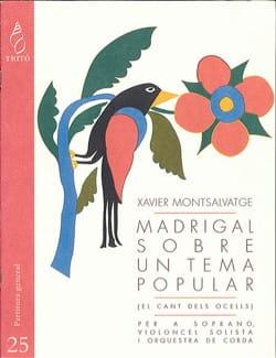 Madrigal sobre un tema popular Xavier Montsalvatge laflutedepan