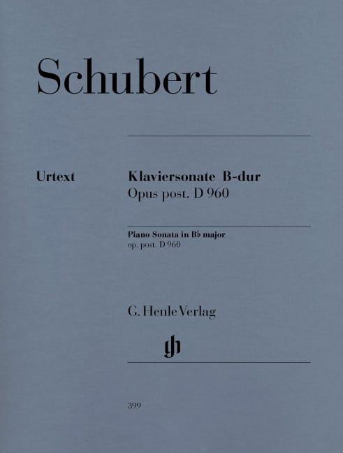 Sonate pour piano Si Bémol Majeur D 960 - SCHUBERT - laflutedepan.com