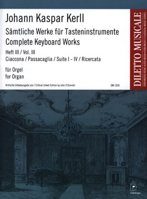 Oeuvres Complètes Volume 3 Johann Kaspar Kerll Partition laflutedepan