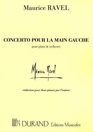 Concerto Pour la Main Gauche. RAVEL Partition Piano - laflutedepan