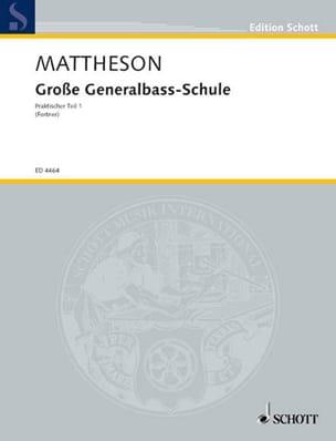Grosse Generalbass-Schule Johann Mattheson Partition laflutedepan
