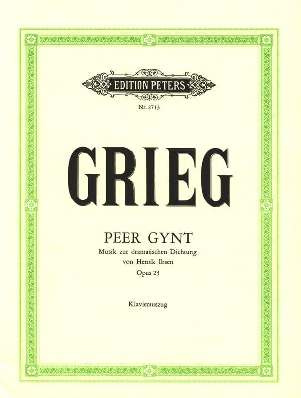 Peer Gynt Opus 23 - GRIEG - Partition - Opéras - laflutedepan.com