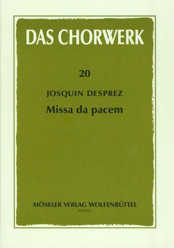 Missa Da pacem - Josquin Després - Partition - laflutedepan.com