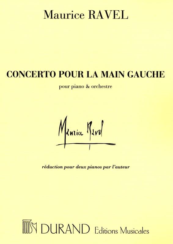 Concerto Pour la Main Gauche. - RAVEL - Partition - laflutedepan.com