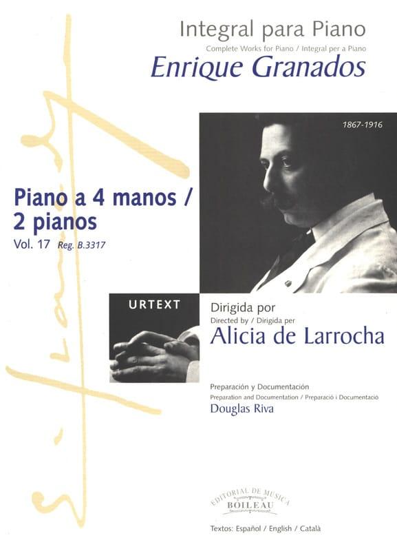 Oeuvres pour piano à 4 mains ou 2 pianos - GRANADOS - laflutedepan.com