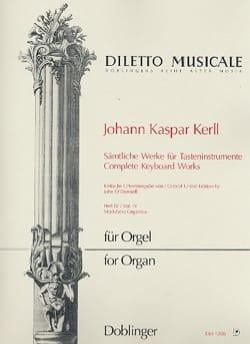 Oeuvres Complètes Volume 4 Johann Kaspar Kerll Partition laflutedepan