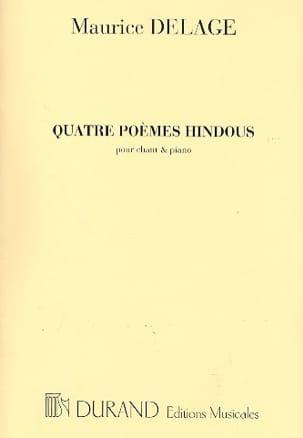 4 Poèmes Hindous Maurice Delage Partition Mélodies - laflutedepan
