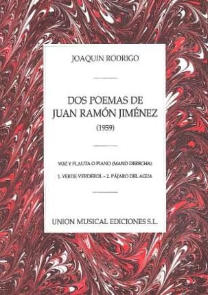2 Poemas de Juan Ramon Jimenez RODRIGO Partition laflutedepan