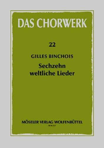 16 Weltliche Lieder - Gilles Binchois - Partition - laflutedepan.com