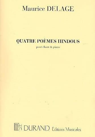 4 Poèmes Hindous - Maurice Delage - Partition - laflutedepan.com
