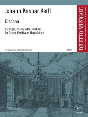 Ciacona Johann Kaspar Kerll Partition Orgue - laflutedepan