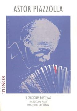 4 Canciones Porteñas Astor Piazzolla Partition Mélodies - laflutedepan