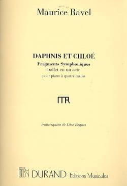 Maurice Ravel - Daphnis y Chloé 1ra serie. 4 manos o 2 pianos. - Partition - di-arezzo.es
