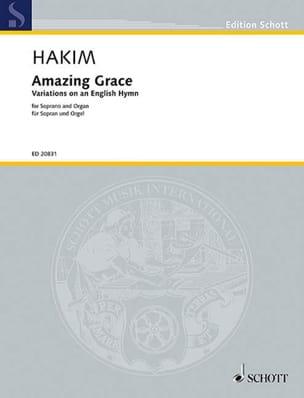 Amazing Grace Naji Hakim Partition Mélodies - laflutedepan