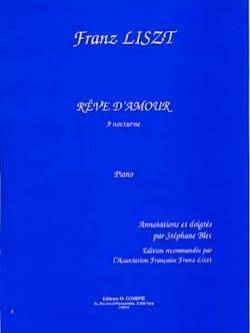 Rêve D'amour. 3ème Nocturne LISZT Partition Piano - laflutedepan