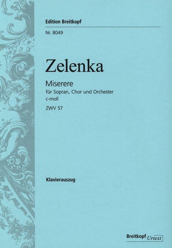 Miserere en do mineur - ZELENKA - Partition - Chœur - laflutedepan.com