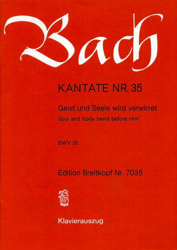 Cantate 35 Geist Und Seele Wird Verwirret - BACH - laflutedepan.com