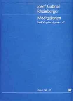 Meditationen Op. 167 RHEINBERGER Partition Orgue - laflutedepan
