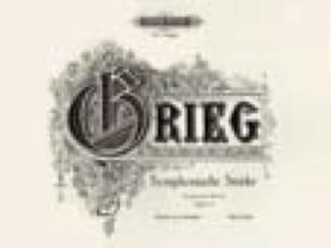 Pièces Symphoniques Opus 14. 4 Mains - GRIEG - laflutedepan.com