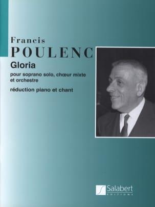 Gloria POULENC Partition Chœur - laflutedepan