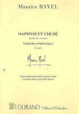 Maurice Ravel - Dafnis y Chloé segunda serie. 4 manos o 2 pianos. - Partition - di-arezzo.es