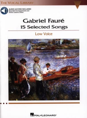15 Selected Songs. Voix Grave FAURÉ Partition Mélodies - laflutedepan