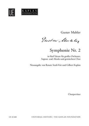 Symphonie n°2 - Choeur seul MAHLER Partition Chœur - laflutedepan