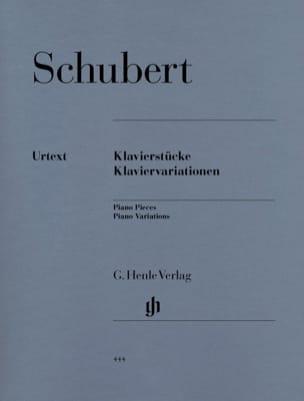 Klavierstücke / Klaviervariationen SCHUBERT Partition laflutedepan