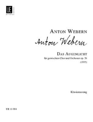 Das Augenlicht Op. 26 WEBERN Partition Chœur - laflutedepan